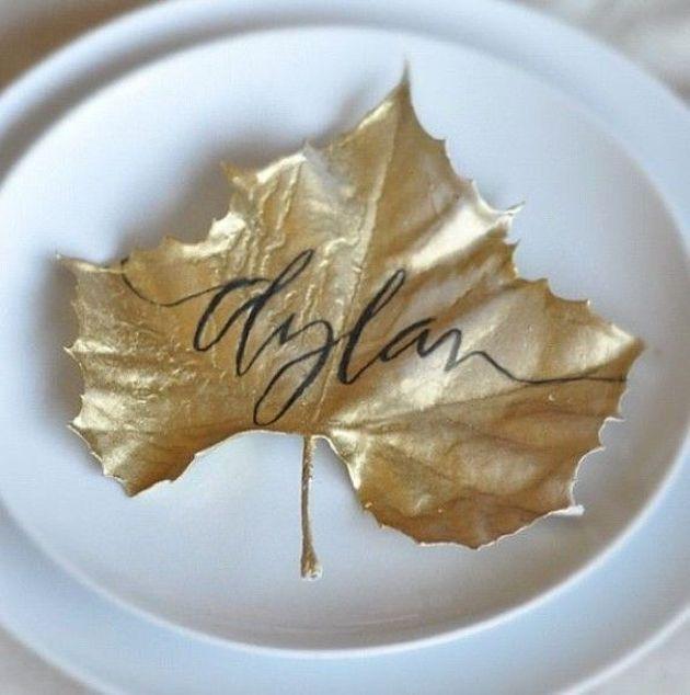 15 Leaf Ideas for Fall Weddings | Bridal Musings Wedding Blog 6