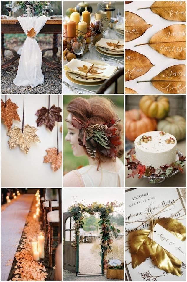 Leaf Wedding Inspiration for Fall | Bridal Musings Wedding Blog