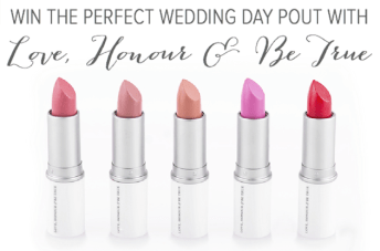Christmas Giveaway Day Three: Win Love, Honour & Be True Bridal Lipsticks