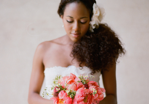 Ideas for Brides With Curly Hair | Martha Stewart Weddings | Bridal Musings Wedding Blog