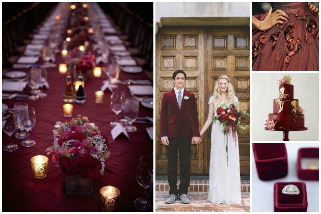 Marsala Wedding Inspiration Bridal Musings