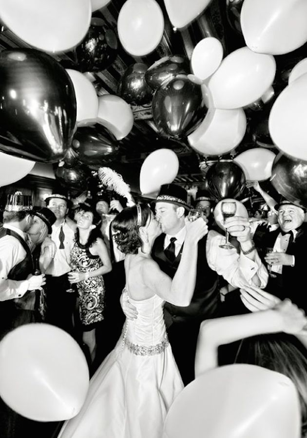 New Years Eve Wedding | Balloons | Bridal Musings Wedding Blog