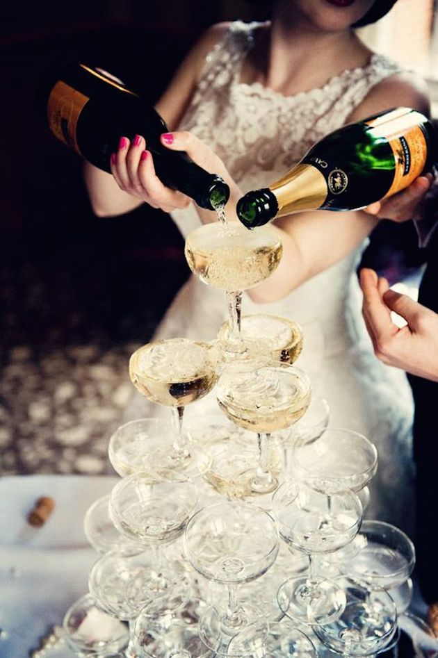 New Years Eve Wedding | Champagne Tower | Bridal Musings Wedding Blog