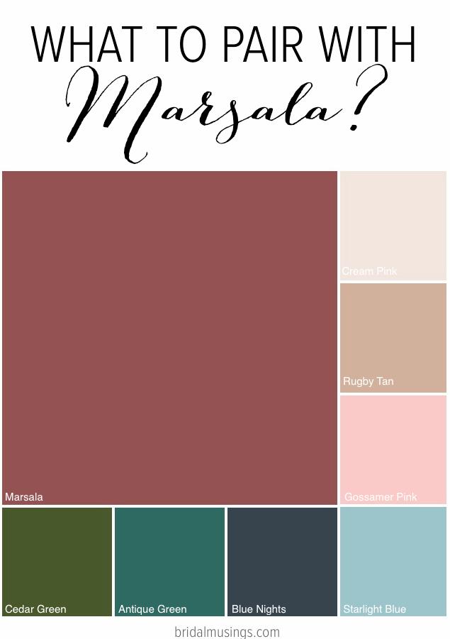 Сочетание цвета марсала с другими цветами