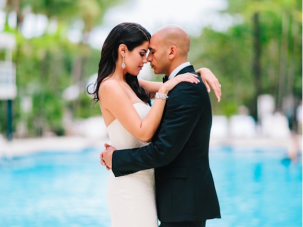Black, White & Gold Wedding In Miami. Weddings Don't Get Much Cooler Than This.