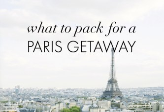 Honeymoon Hotspot: Paris Packing Essentials