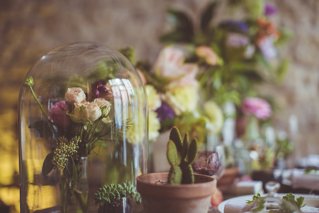 Glass Domes and Flowers | Camille Marciano for Junophoto | Bridal Musings Wedding Blog 14