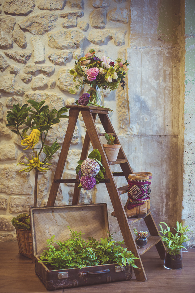 Ladder Wedding Decor | Camille Marciano for Junophoto | Bridal Musings Wedding Blog 34