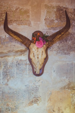 Cool Skull with Flowers | Camille Marciano for Junophoto | Bridal Musings Wedding Blog 38