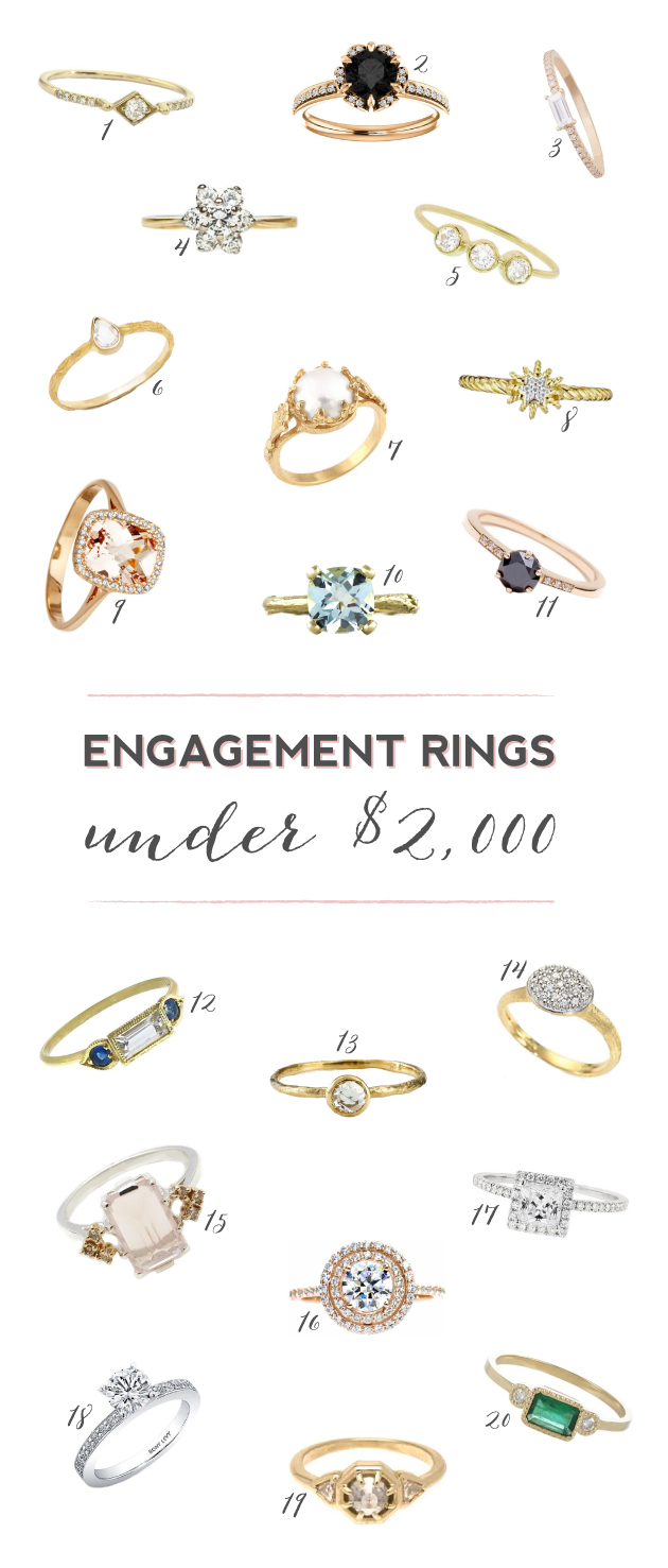 20 Stunning Engagement Rings Under $2 000 Bridal Musings Wedding Blog