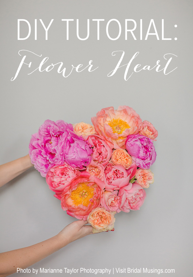 DIY Flower Heart Tutorial | Marianne Taylor Photography | Bridal Musings Wedding Blog 11