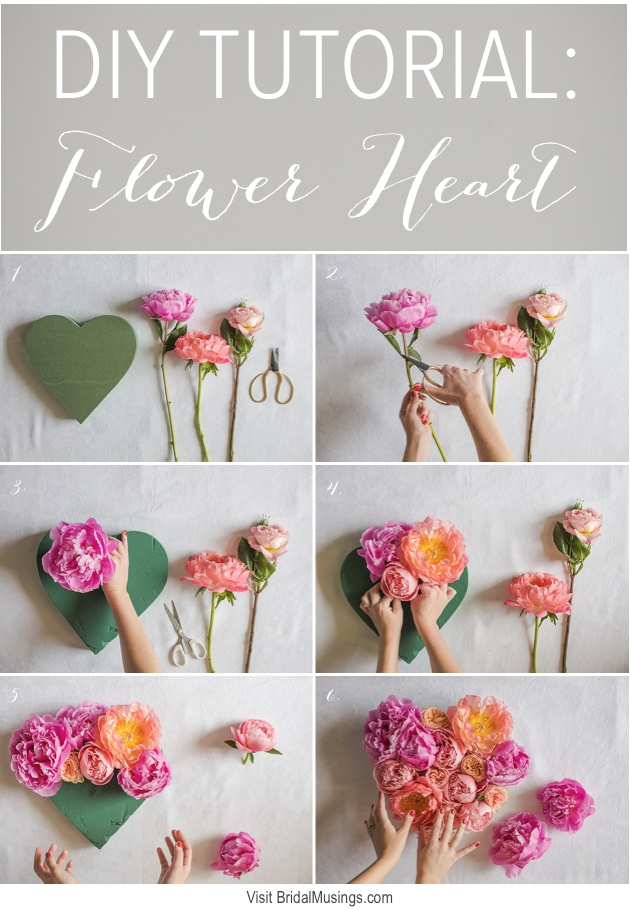 Flower Heart Tutorial | Marianne Taylor Photography | Bridal Musings Wedding Blog