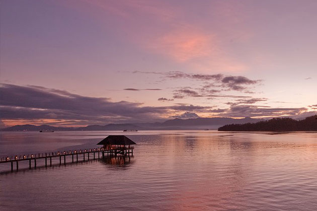 Gaya-Island-Resort-Sunset-