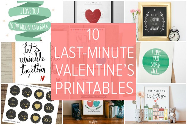 Last Minute Valentine's Day Printables | Bridal Musings Wedding Blog 1