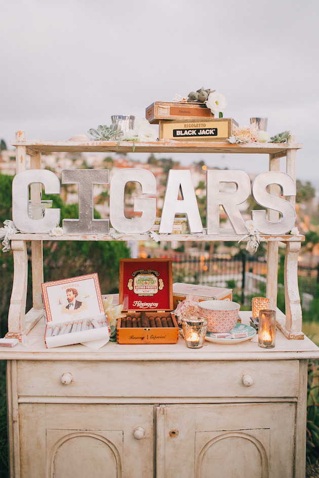 Cigar Bar Wedding | Bridal Musings