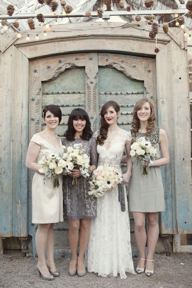 Mix and Match Bridesmaid Dress Ideas | Bridal Musings Wedding Blog 1