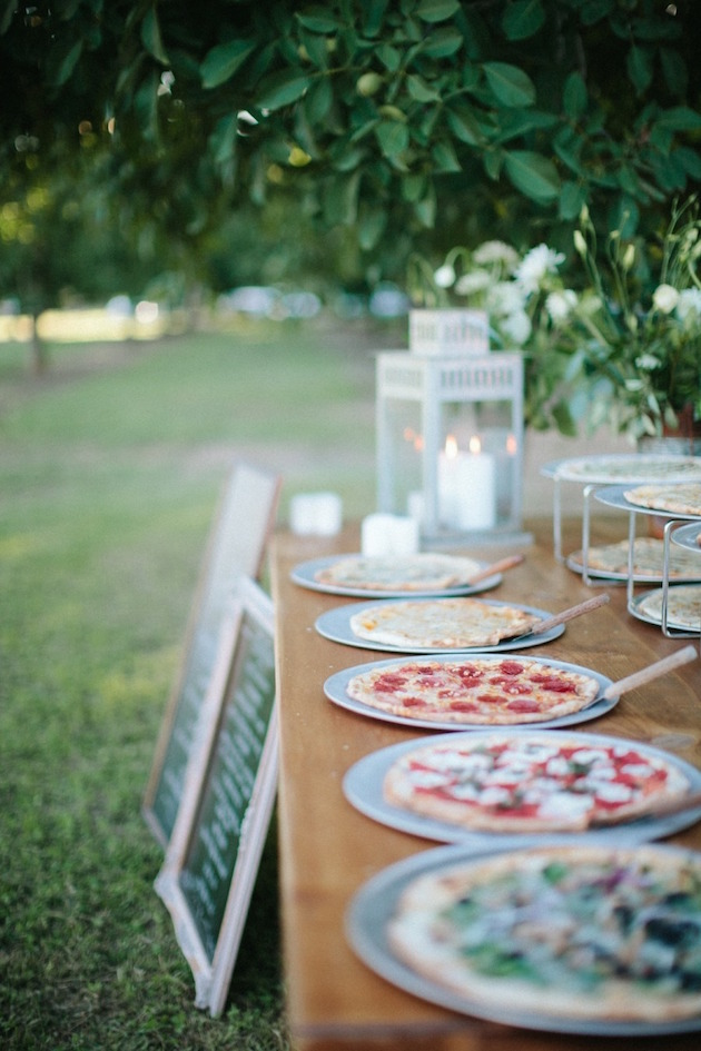 Pizza Buffet Wedding | Bridal Musings Wedding Blog