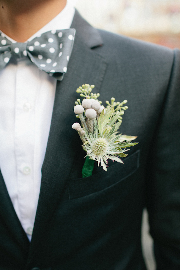 Thistle Buttonhole | Bridal Musings Wedding Blog
