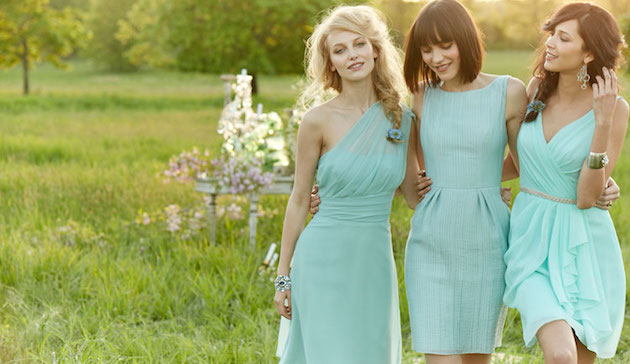 Bridesmaids in Blue | Bridal Musings Wedding Blog