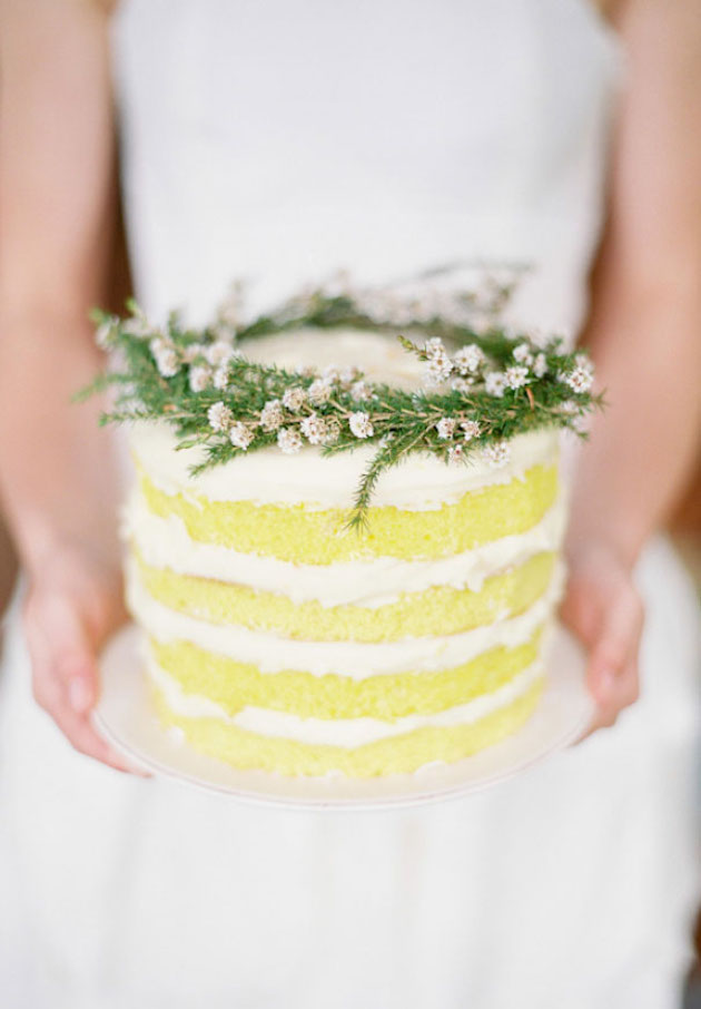 Yellow Wedding Cake | Bridal Musings Wedding Blog