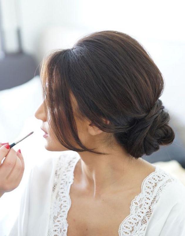 Bun Upstyle   Wedding Hair Inspiration   Bridal Musings Wedding Blog 5