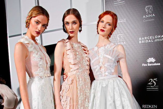 backstage at barcelona bridal week 2015