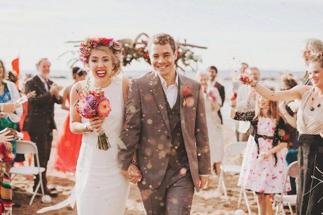 Confetti Toss Cool Summer Camp Wedding Nessa K Photography Bridal Musings Blog