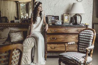 Effortlessly Pretty Bridal Separates: Laure De Sagazan Wedding Dress Collection