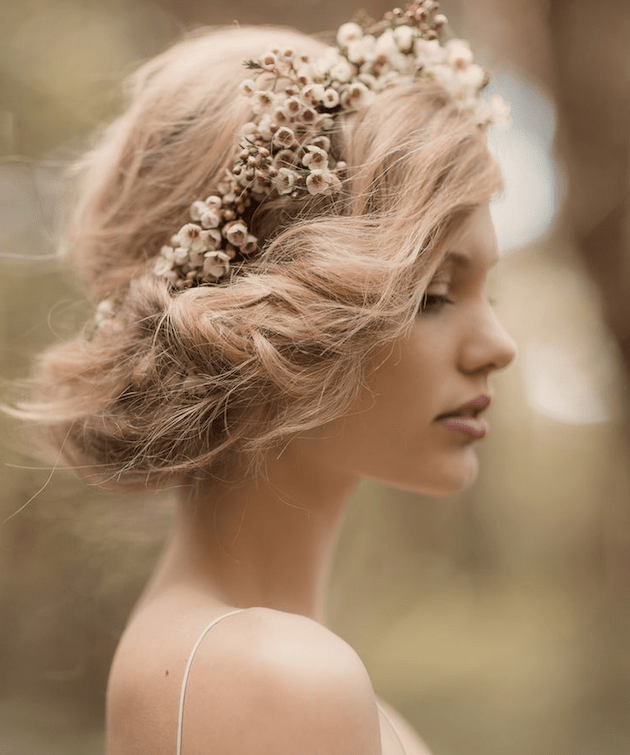 Wedding Hairstyle Upstyle: 20 Gorgeous Gibson Rolls; Tucked Upstyle Wedding Hair