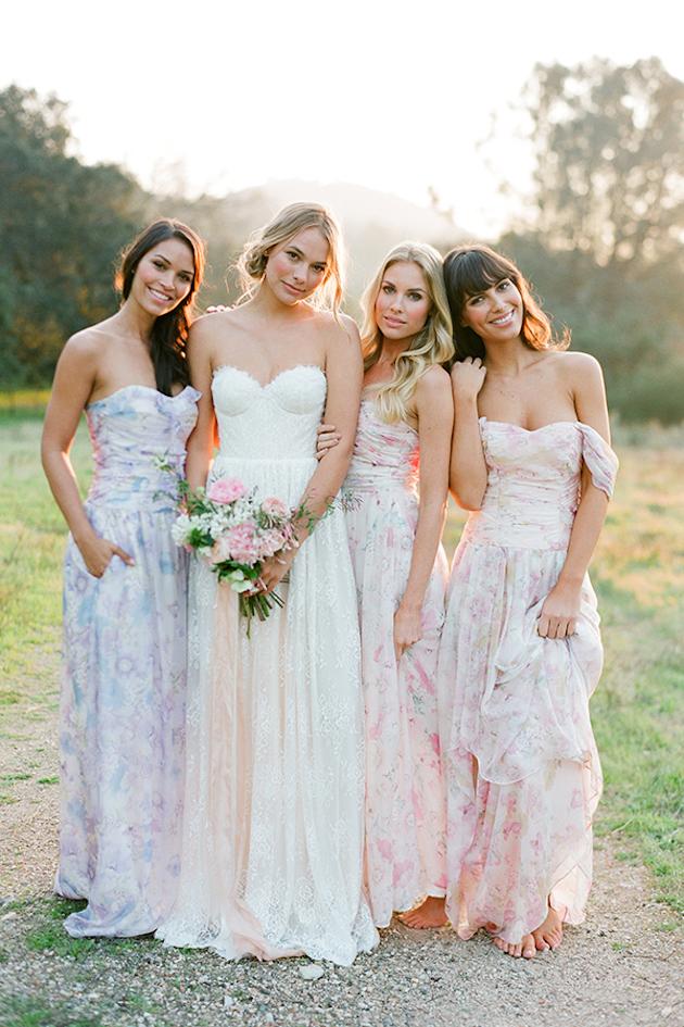 vestidos para madrinhas de casamento florido