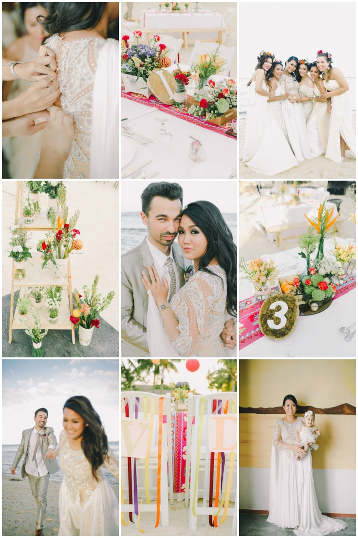 Stylish And Colourful Beach Wedding In The Philippines