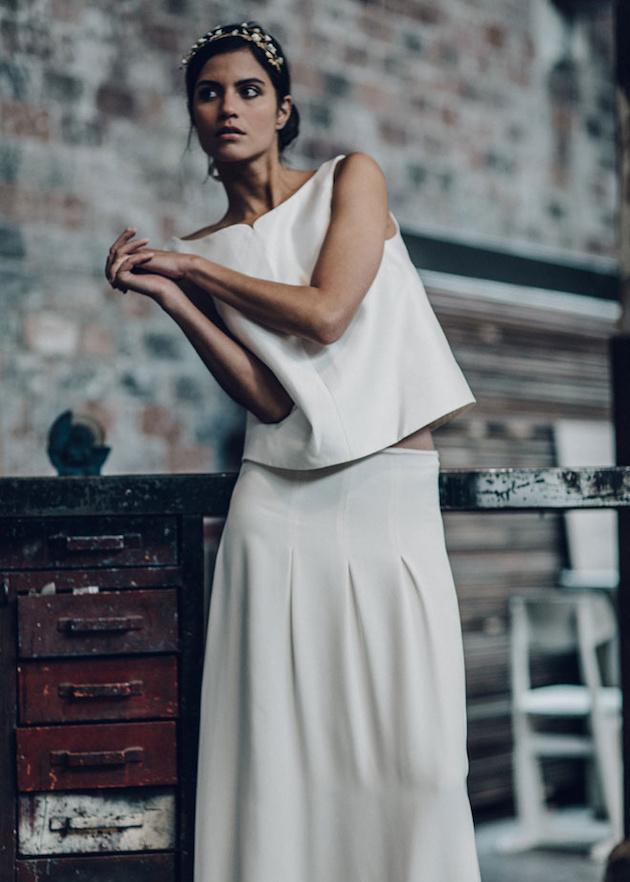 Laure de sagazan wedding dress collection laurent nivalle bridal