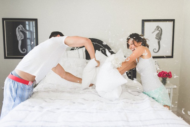 Pillow Fight Engagement Shoot | Olive Photography | Bridal Musings Wedding Blog 6
