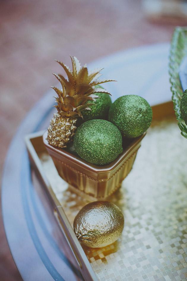 Gold Leaf Wedding Fruit