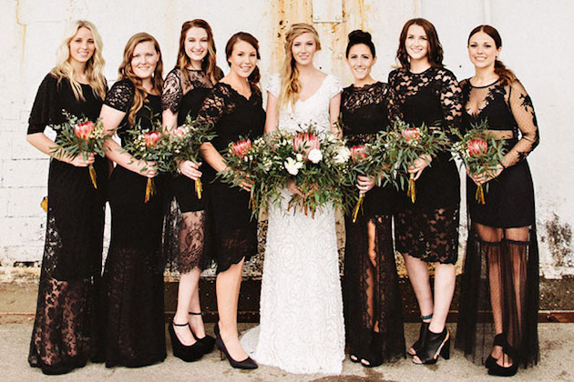 LBD bridesmaid dresses | Bridal Musings Wedding Blog