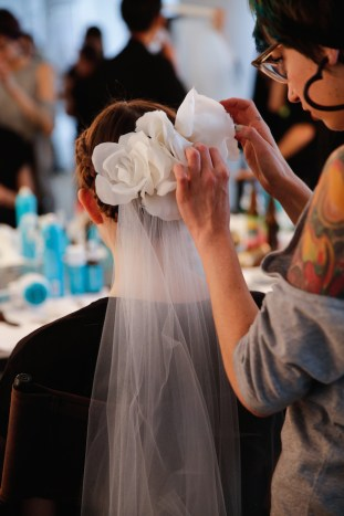 Marchesa, Backstage, Bridal Fall 2016, October 2015