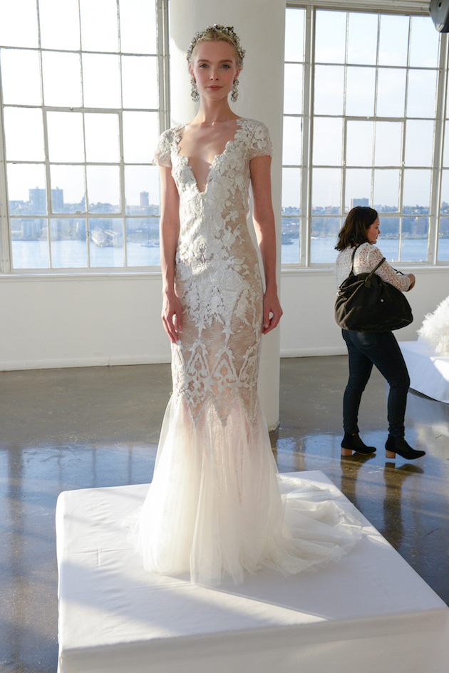 Marchesa Wedding Dress Collection | Backstage at Bridal Fashion Week | Bridal Musings Wedding Blog 62