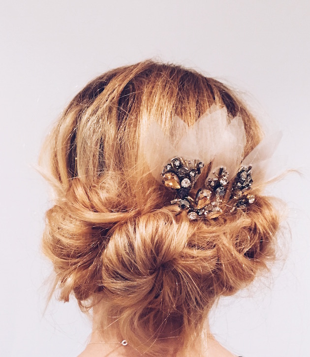 bridal hair tutorial emily kent feather coal bridal musings wedding