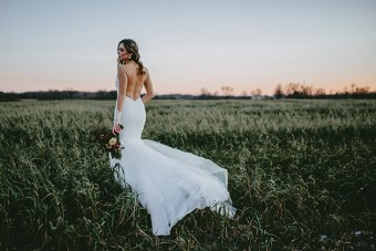 Exclusive Look: Katie May Montreal Backless Wedding Dress