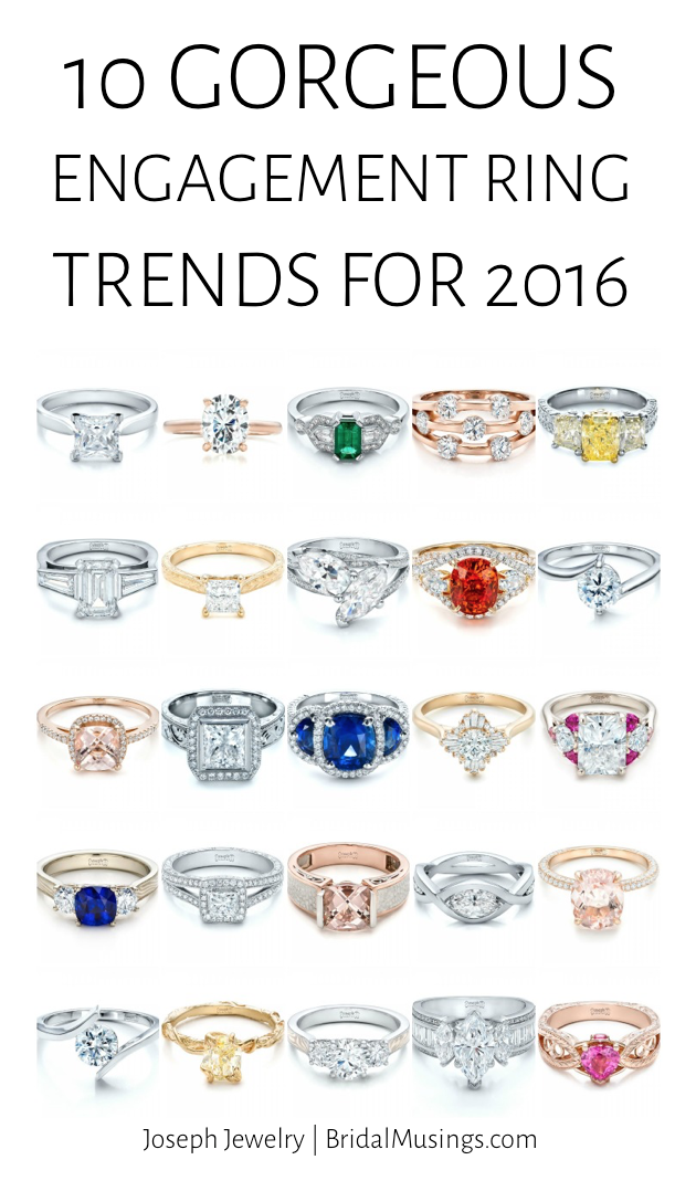 wedding ring types 10 gorgeous engagement ring trends for 2016 1005