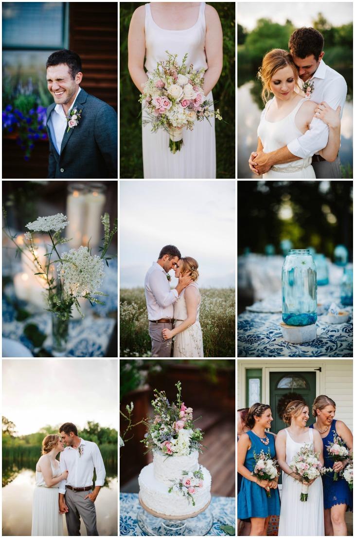 a beautiful backyard wedding for highschool sweethearts weddbook