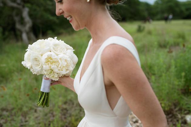 Clean modern chic austin wedding for Wedding dress cleaning austin