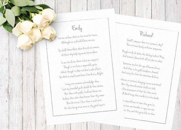 Wedding Vows Print on Etsy | Bridal Musings Wedding Blog