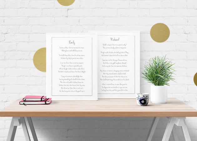 Wedding Vows Print on Etsy | Bridal Musings Wedding Blog 2