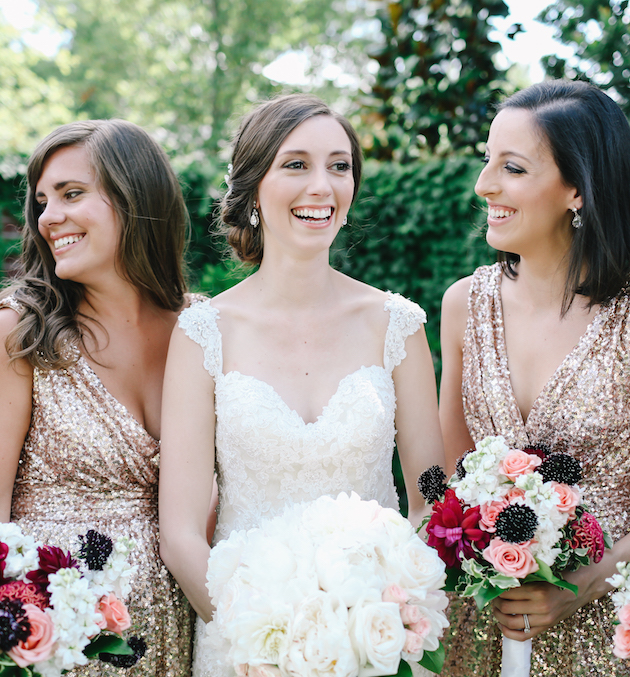 Sweet 4th Of July Weddingwith Sequins & Sparklers