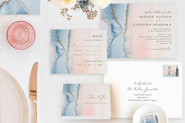 Gold Foil Wedding Stationery | Minted.com | Bridal Musings Wedding Blog