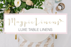 Magpie Linens| Bridal Musings Wedding Blog