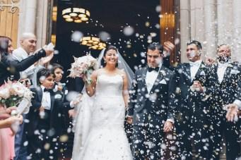 Romantic Pink & Gold Wedding in Brooklyn