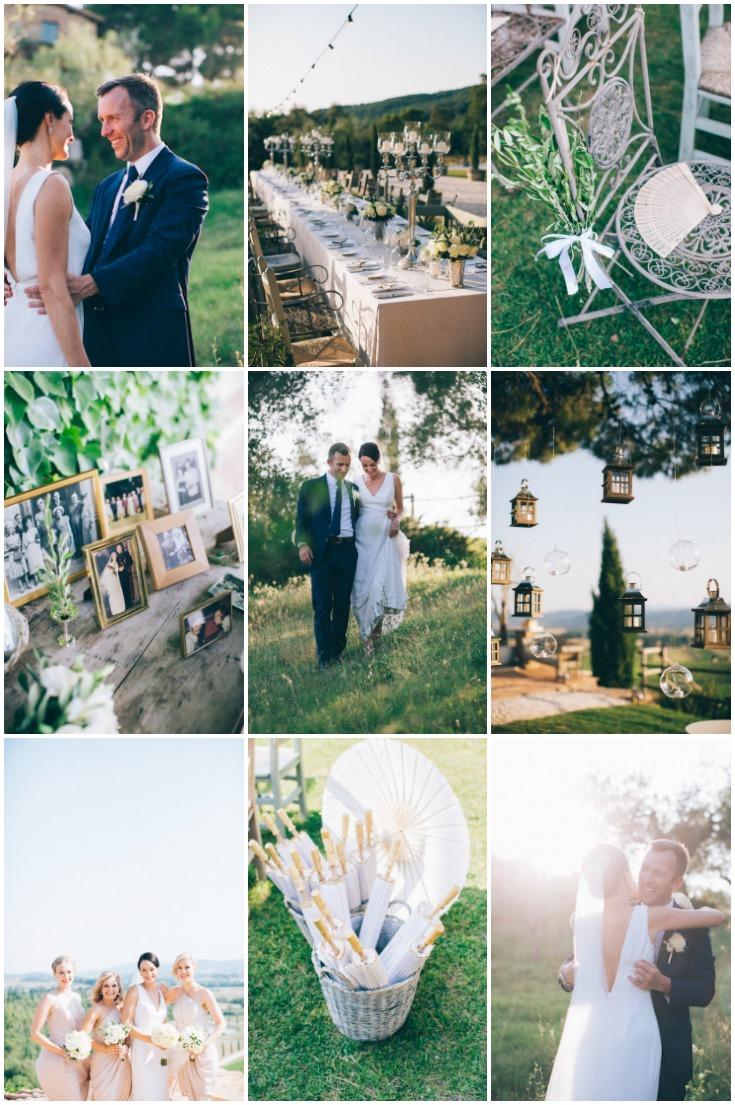 fun relaxed and elegant destination wedding in tuscany weddbook