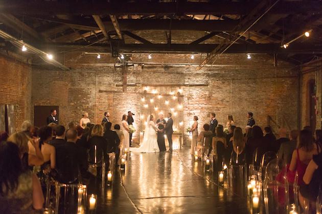 Romantic Candlelit Winter Wedding At Night